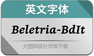 Beletria-BoldItalic(英文字体)