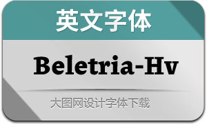 Beletria-Heavy(英文字体)