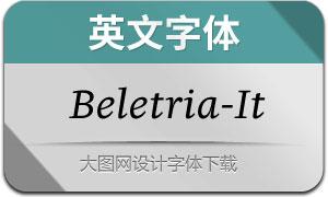 Beletria-Italic(英文字体)
