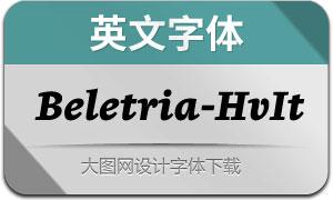 Beletria-HeavyItalic(英文字体)