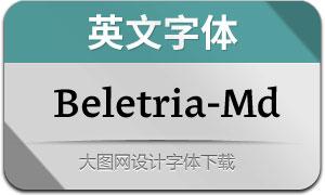 Beletria-Medium(英文字体)