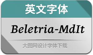 Beletria-MediumItalic(英文字体)