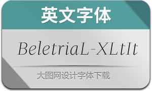 BeletriaLarge-ExtraLightIt(英文字体)