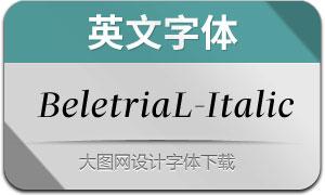 BeletriaLarge-Italic(英文字体)