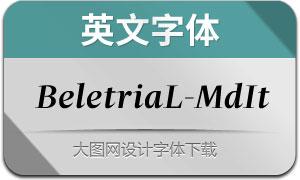 BeletriaLarge-MediumIt(英文字体)