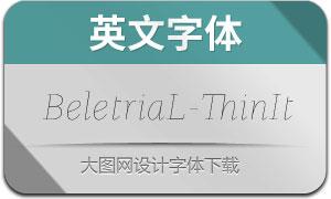 BeletriaLarge-ThinItalic(英文字体)