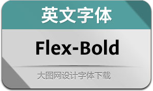 Flex-Bold(英文字体)