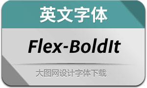 Flex-BoldItalic(英文字体)