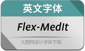 Flex-MediumItalic(英文字体)