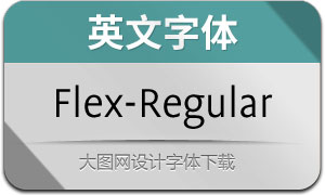 Flex-Regular(英文字体)