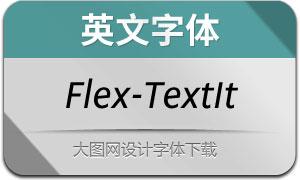 Flex-TextItalic(英文字体)