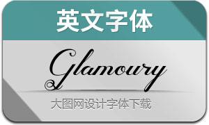 Glamoury(英文字体)