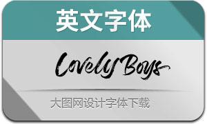 LovelyBoys(英文字体)