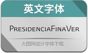 PresidenciaFina-Versalitas(英文字体)