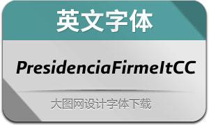 PresidenciaFirme-ItalicasCC(英文字体)