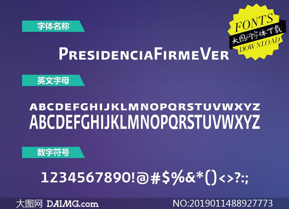 PresidenciaFirme-Versalitas(英文字体)