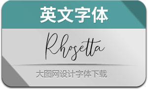 Rhosetta(英文字体)