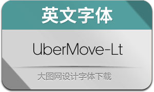 UberMove-Light(英文字体)