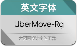 UberMove-Regular(英文字体)