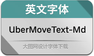 UberMoveText-Medium(英文字体)