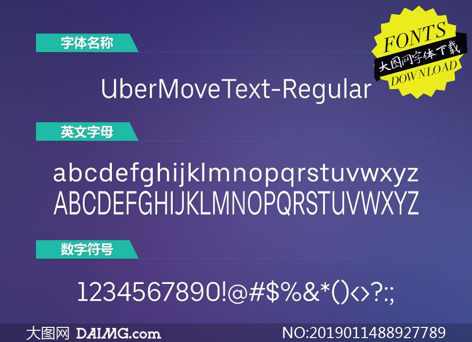 UberMoveText-Regular( 英文字体)