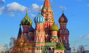 莫斯科圣母大教堂風光攝影高清圖片
