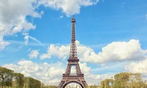 巴黎的埃菲爾鐵塔風光攝影高清圖片
