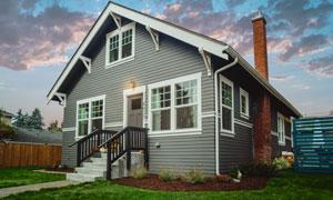 有红砖烟囱的房子风光摄影高清图片