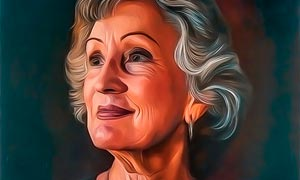 10款抽象的手绘油画效果PS动作