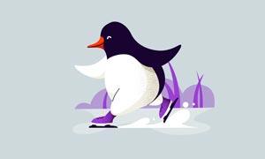 可爱的企鹅插画教程PSD源文件