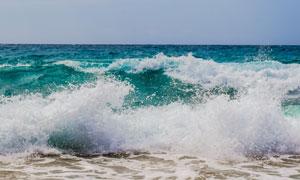 海面上的波涛景观主题摄影高清图片