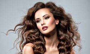 披肩卷发发型美女模特摄影高清图片