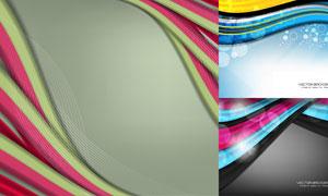 光斑元素波形曲线背景创意矢量素材