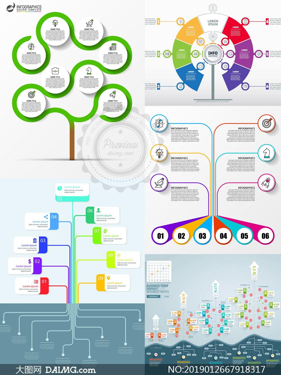 职场人物创意信息图表设计矢量素材