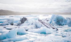 融化的冰川世界摄影图片