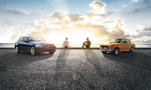 寶馬汽車廣告背景設計圖片素材