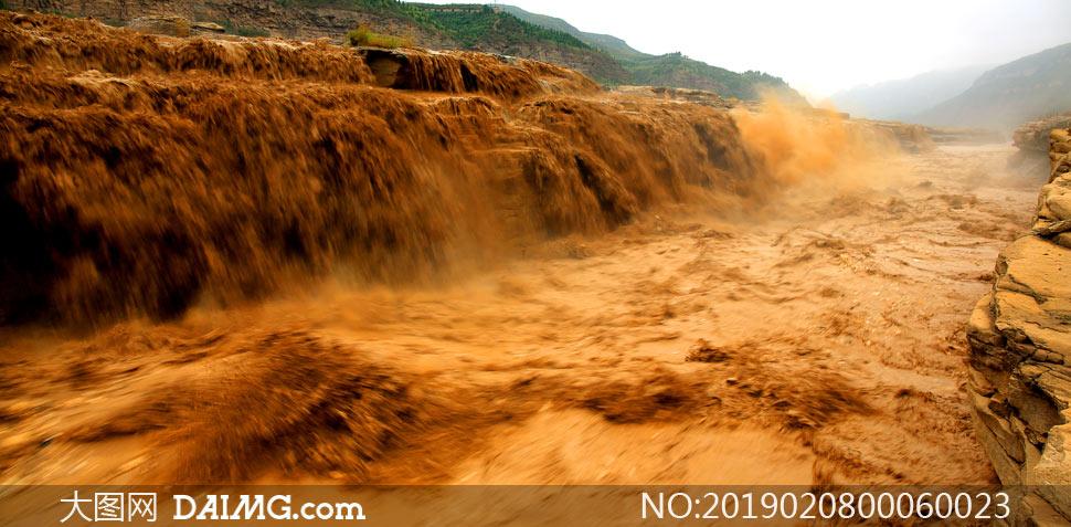 黄河壶口瀑布景观摄影图片