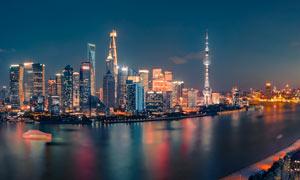 上海外滩夜景高清摄影图片