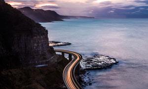 海边盘山公路美丽景观摄影图片