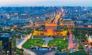 夜幕下的北京城高清摄影图片