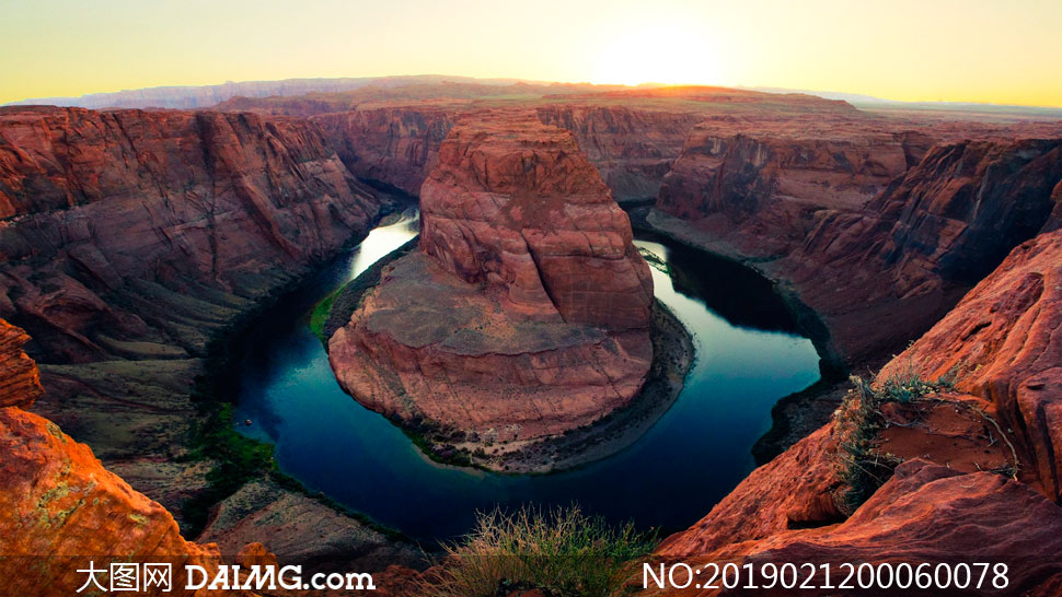 科罗拉多大峡谷夕阳美景摄影图片
