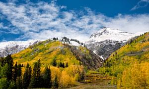 科羅拉多州美麗山峰景觀攝影圖片