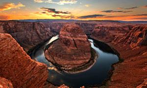 科罗拉多大峡谷黄昏美景摄影图片