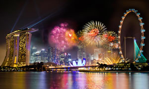 港澳珠大桥美丽夜景摄影图片