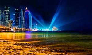 香港美丽夜景和灯光摄影图片