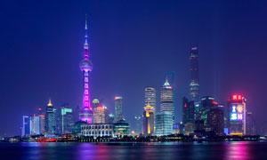 上海东方明珠美丽夜景摄影图片
