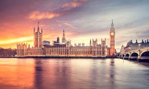 伊丽莎白塔黄昏美景摄影图片