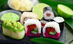 激发人食欲的日料寿司摄影高清图片