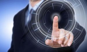 环形图形与点击的手势创意高清图片