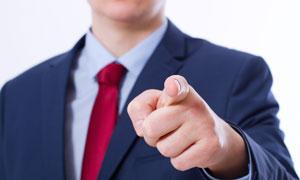 手指着什么的商务人物摄影高清图片